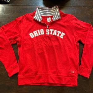 PINK Ohio State Crewneck zip up